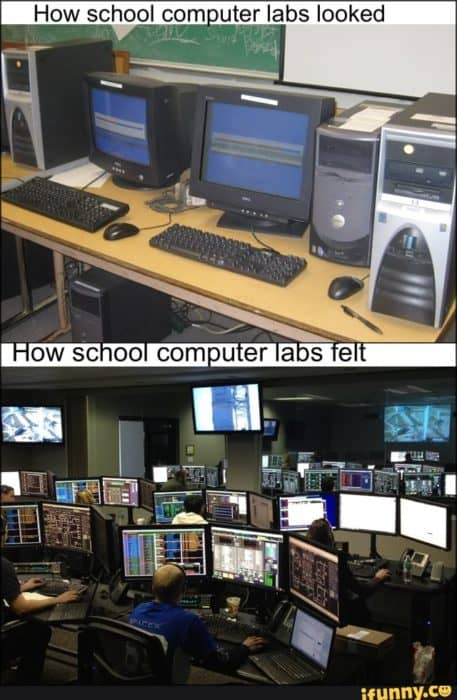This is how we felt like using online learning when we went back to school.