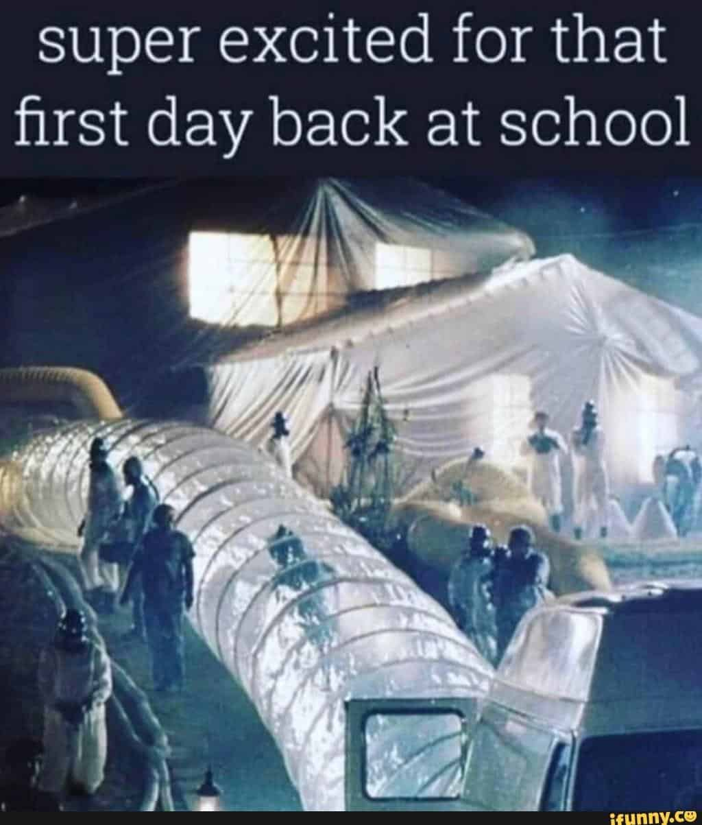 There's nothing like going back to school on the first day!